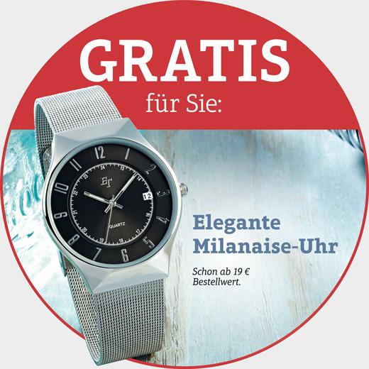 Gratis - Elegante Milanaise-Armbanduhr