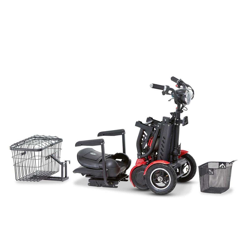 Der faltbare E-Scooter lässt sich in viele Einzelteile zerlegen