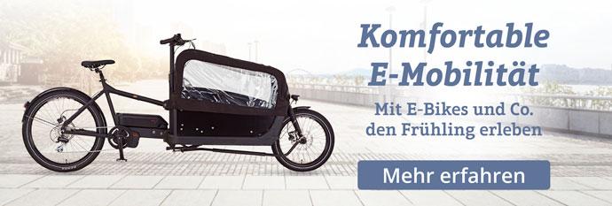 Den Frühling erleben dank E-Bikes und Co.