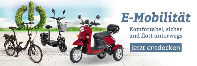 Sichere Fahrfreude auch ohne Auto - entdecken Sie die neusten Modelle aus dem Bereich der Elektromobilität bei Sanpura!