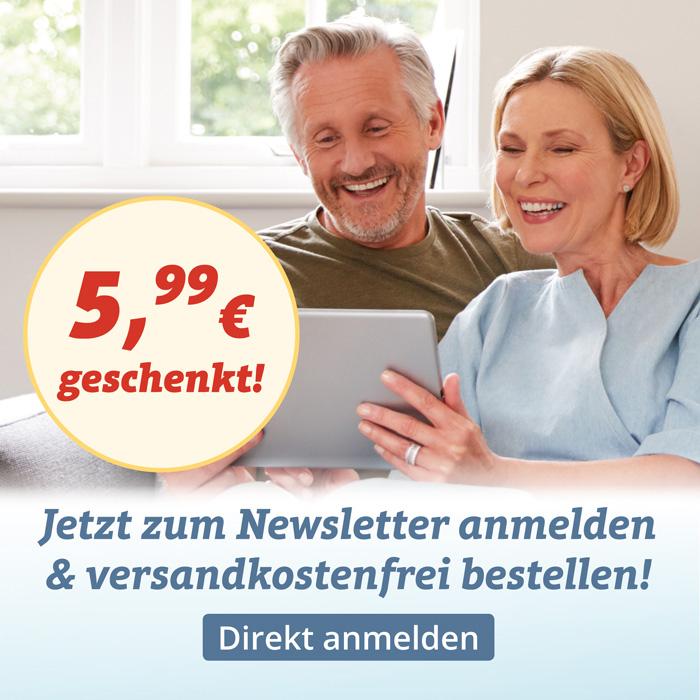 5,99€ Versandkosten gespart - melden Sie sich zum SANPURA Newsletter an