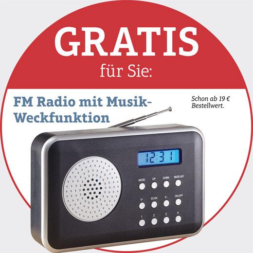Ihr Geschenk: FM-Radio mit Musik-Weckfunktion