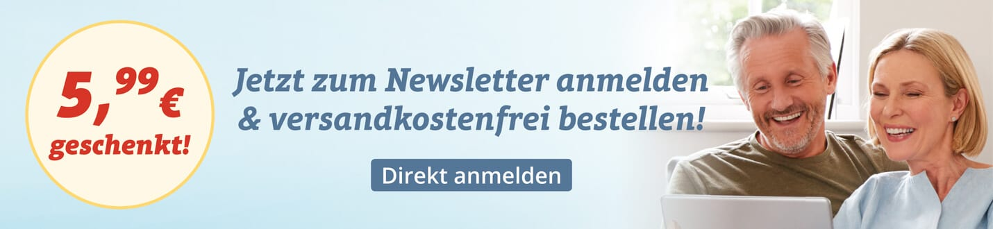 Versandkostenfrei bestellen - Melden Sie sich zum Newsletter von SANPURA an