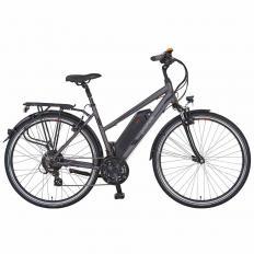 Damen Trekking-E-Bike, grau