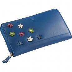 """Geldbörse """"Flower""""   Blau"""