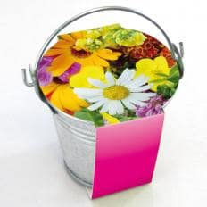 Bunte Blumen und Glücksklee