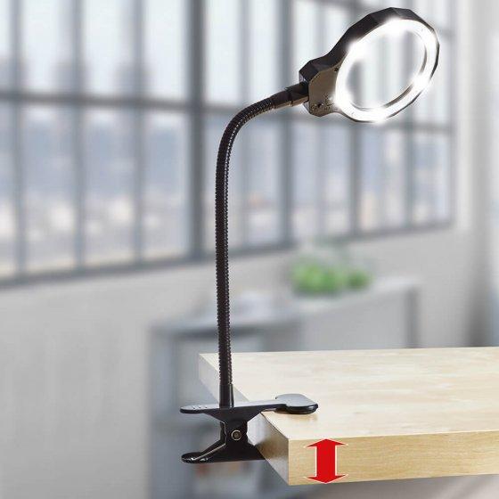 Tischlupe mit Wechselgriff und Licht