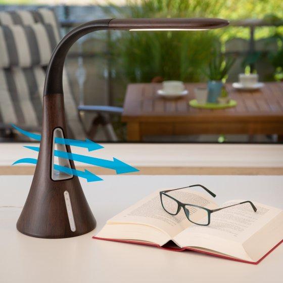 LED-Tischleuchte mit Ventilator