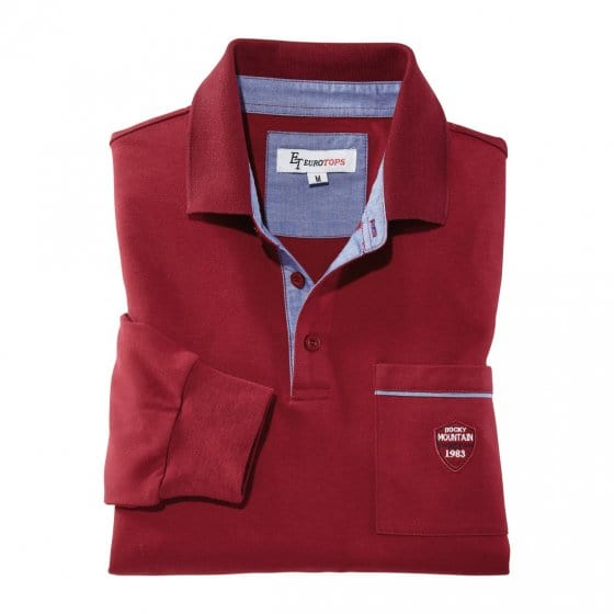 Interlock Langarmshirt,bordeau M | Bordeaux
