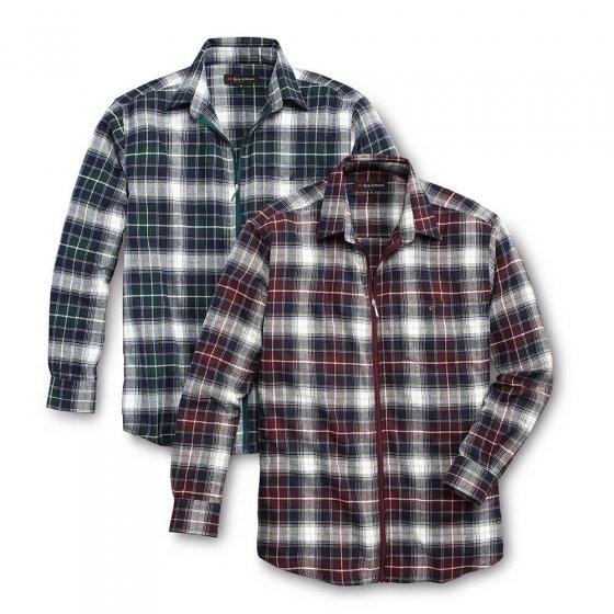 Flanellhemd mit Reißverschluss