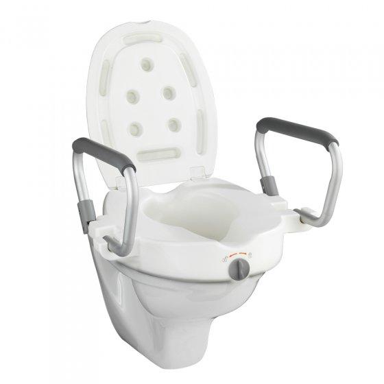 WC-Sitzerhöhung mit Stützgriffen