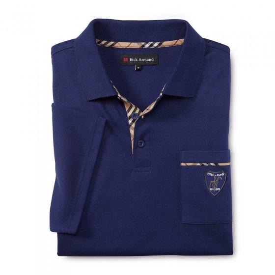 Interlockshirt m.Kontr.,marine M | Marine