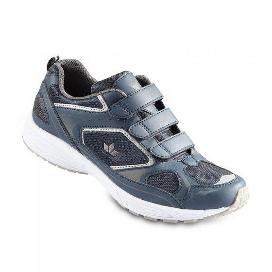 Komfort-Klettslipper,Blau-grau 44 | Blau-Grau