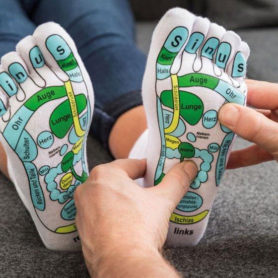 Fußreflexzonen-Massagesocken