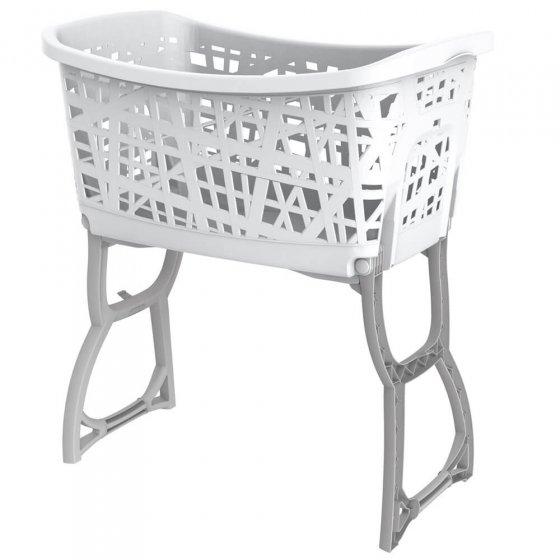 Wäschekorb mit klappbarem Untergestell