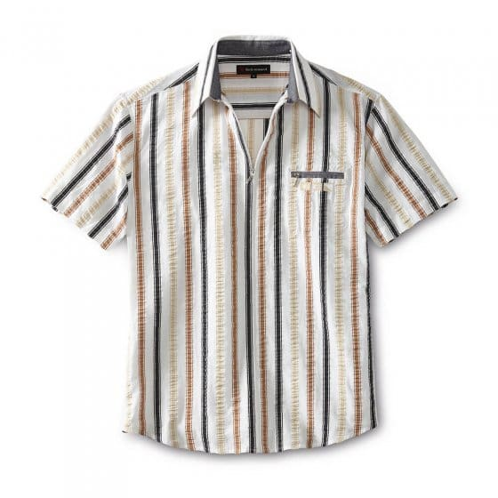 Seersuckerhemd mit Reißverschluss