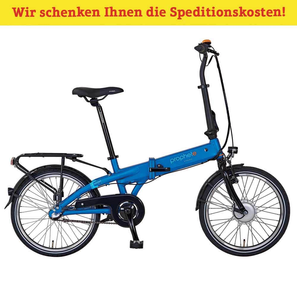 e bike faltbar blau f r im sanpura online shop. Black Bedroom Furniture Sets. Home Design Ideas